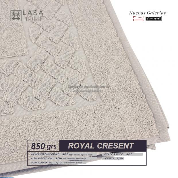 Tapis de bain 100% coton 850 g / m² Beig gris | Royal Cresent