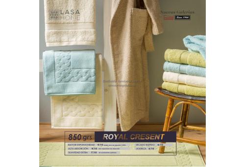 100% Baumwolle Badteppich 850 g / m² Graues Beig | Royal Cresent