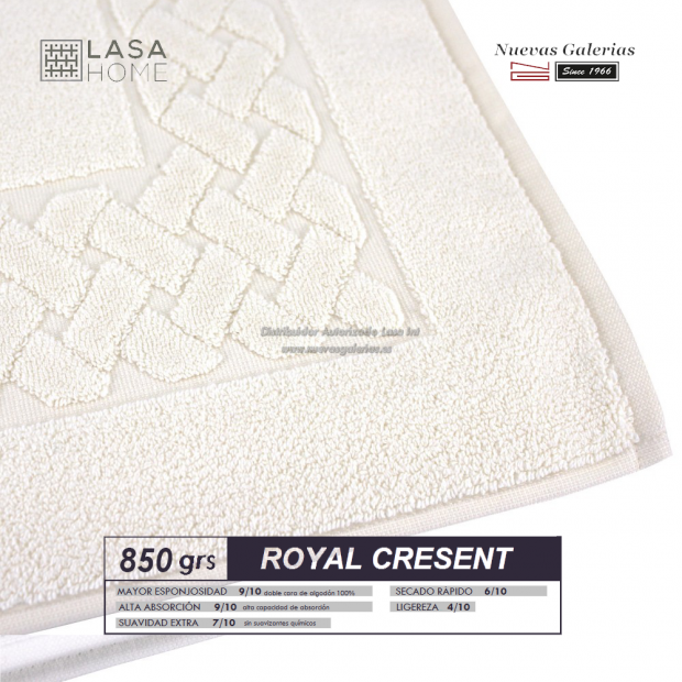 100% Cotton Bath Mat 850 gsm Cream | Royal Cresent