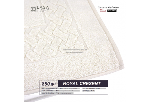 100% Cotton Bath Mat 850 gsm Cream | Royal Cresent