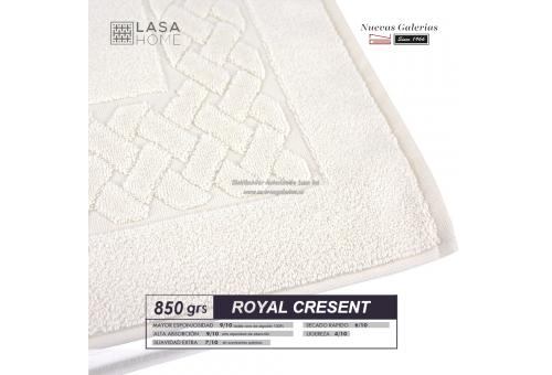 Tapis de bain 100% coton 850 g / m² Blanc Crème | Royal Cresent