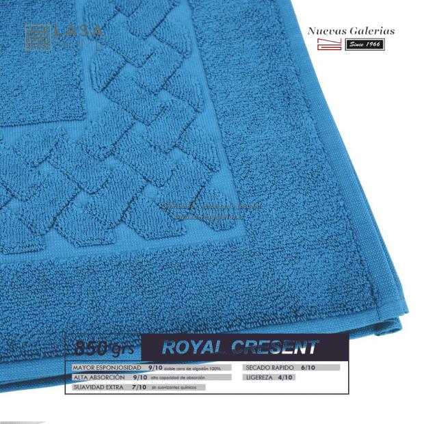 100% Cotton Bath Mat 850 gsm Blue sea   Royal Cresent