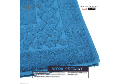 100% Cotton Bath Mat 850 gsm Blue sea | Royal Cresent