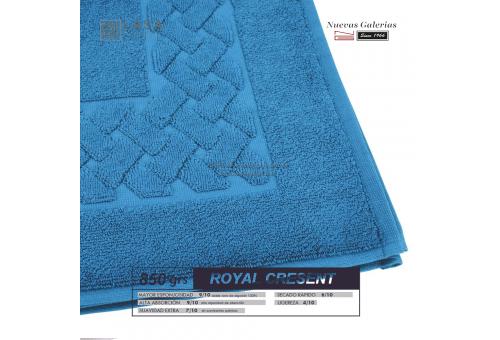 Tapis de bain 100% coton 850 g / m² Bleu mer | Royal Cresent