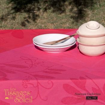 Table Cloth Les Tissages du Soleil | Caprifolia Red
