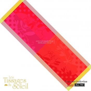 Table Runner Les Tissages du Soleil | Caprifolia Red
