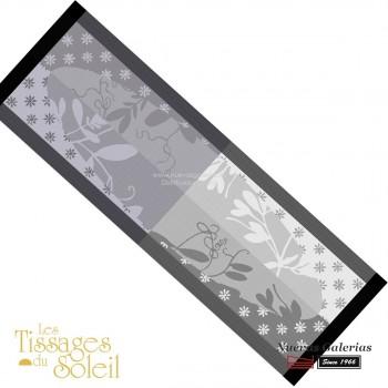 Table Runner Les Tissages du Soleil | Caprifolia Gray