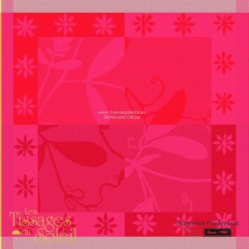 Napkins Les Tissages du Soleil | Caprifolia Red
