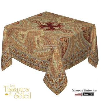 Table Cloth Les Tissages du Soleil | Paisley Terracota
