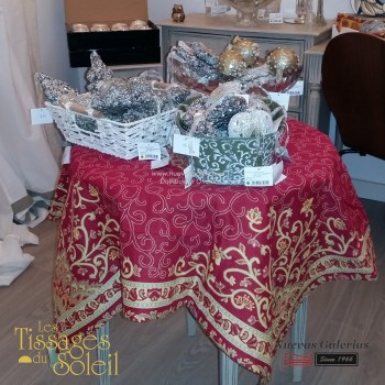 Table Cloth Les Tissages du Soleil | Sevilla Red