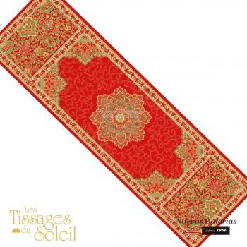 Table Runner Les Tissages du Soleil | Sevilla Red