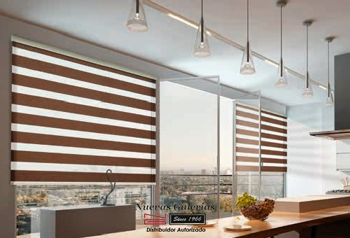 Roller Shades night and day