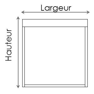Dimensions de stores enrouleurs Premium Plus Bandalux