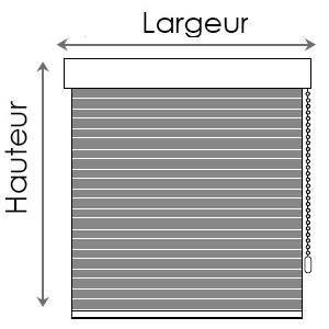 Dimensions de stores enrouleurs NEOLUX Bandalux