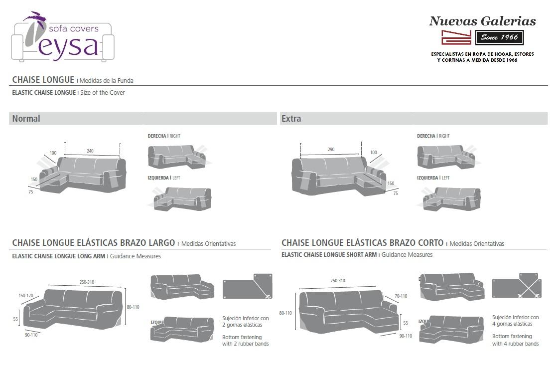 Medidas Fundas de Chaise Longe EYSA - Nuevas Galerias