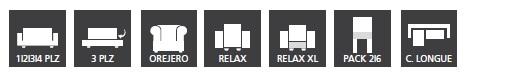 Tipos de Funda de Sofa Elástica Eysa modelo Aquiles - Nuevas Galerias