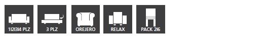 Tipos de Funda de Sofa Elástica Eysa modelo Over - Nuevas Galerias