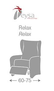 Medidas Fundas sillón Relax de Eysa - Nuevas Galerias