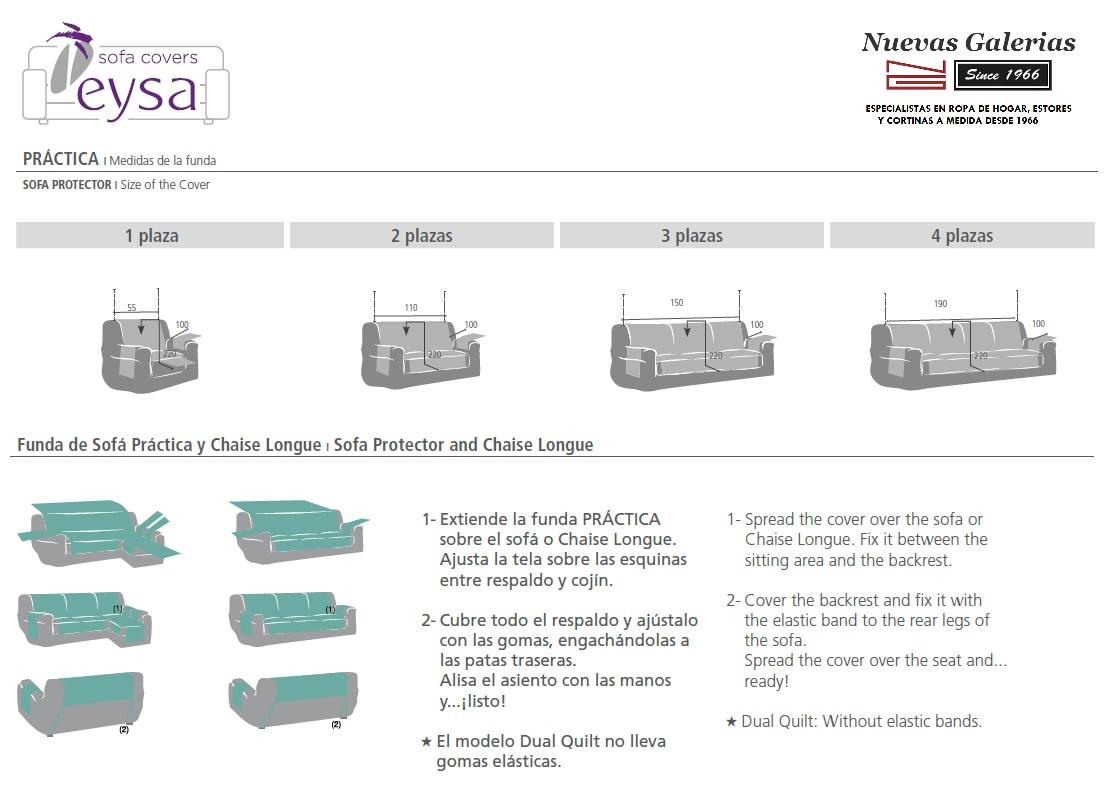 Medidas Fundas de Sofá Prácticas de EYSA - Nuevas Galerias
