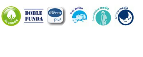 Caracteristicas Almohada de fibra Neotherm® Plus Teide | Velfont
